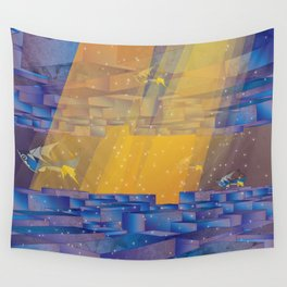 Up Down City Wall Tapestry