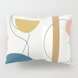 Free Abstract Shapes II Pillow Sham