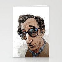 woody allen Stationery Cards featuring Woody Allen by Mitt Roshin