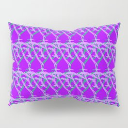 Braided diagonal pattern of wire and light arrows on a violet background. Pillow Sham