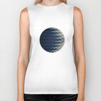 wave Biker Tanks featuring Wave by thinschi