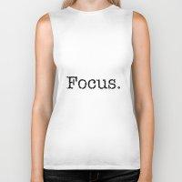 focus Biker Tanks featuring Focus by Silver Rain