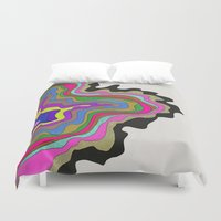 coasters Duvet Covers featuring Color Wave by Georgiana Paraschiv