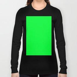 Australian Great Barrier Reef Neon Green Moray Eel Fish Long Sleeve T-shirt