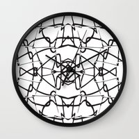 the wire Wall Clocks featuring wire by kartalpaf