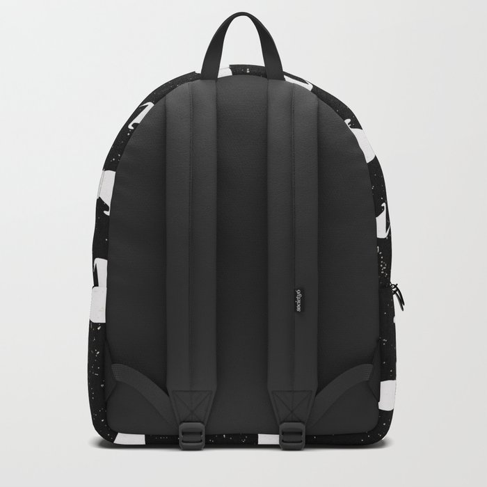 Funny Dachshund Pattern-White on Black-Mix & Match with Simplicity of life Backpack