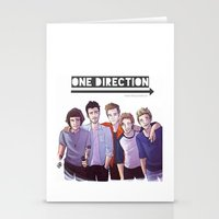 one direction Stationery Cards featuring One Direction by Nowhere Little Girl