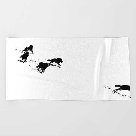 snowblinded // (wolf pack) Beach Towel