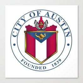 City Of Austin Seal Canvas Print