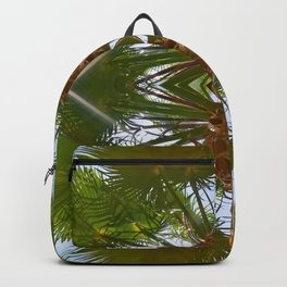 Palm Tree Geometric Lines Symmetry Photograph Backpack