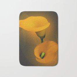 Calla Lily Warm Yellow Mist Background Bath Mat