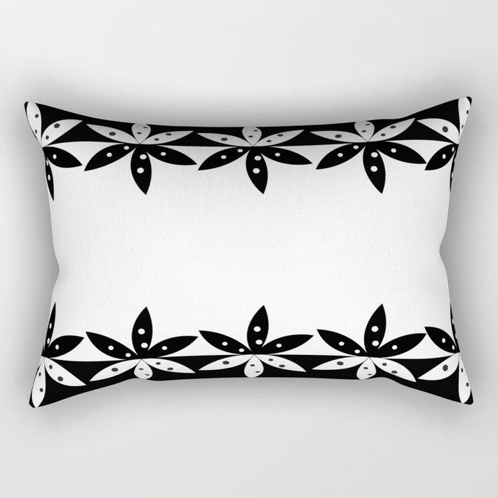 BLACK A Rectangular Pillow