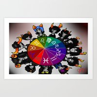 homestuck Art Prints featuring Homestuck Wheel by Darkerin Drachen