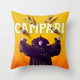 Vintage Cordial Bitter Campari 'Pagliacci' Advertisement Poster Throw Pillow