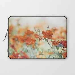 Orange Rose Flower Photography, Red Orange Roses, Burnt Orange Flowers Laptop Sleeve