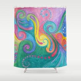 Swirls N Whirls Shower Curtain