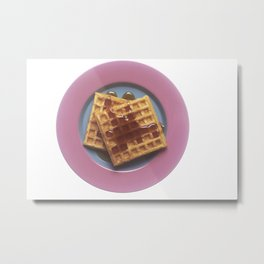 Waffles With Syrup Metal Print