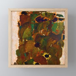 Egon Schiele Sunflowers Framed Mini Art Print