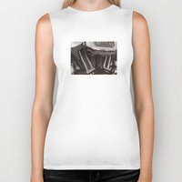 motorcycle Biker Tanks featuring Motorcycle by Jaci Wandell