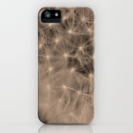 Macro Dandelion Fine Art Photography iPhone Case