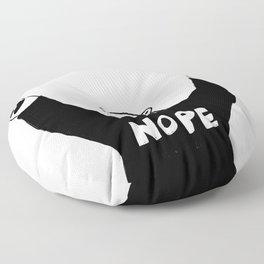 NOPE BEAR Floor Pillow
