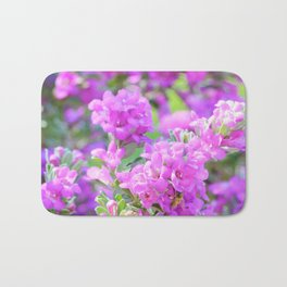 Purple Flowers in the Garden Bath Mat