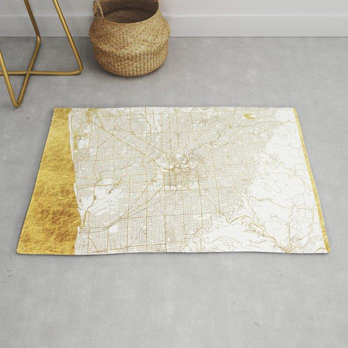 Adelaide Map Gold Rug By Hubertroguski