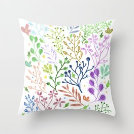 Abstract Spring Florals Throw Pillow