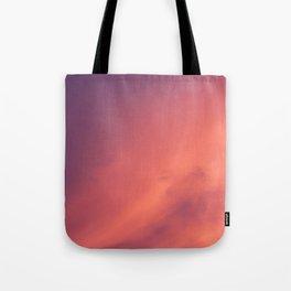Purple Sky with Orange Clouds Tote Bag
