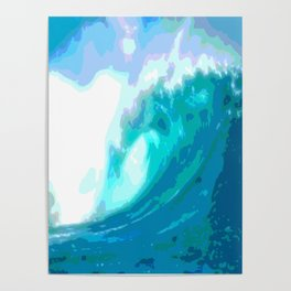 poster paint wave modern home design Poster
