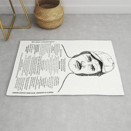Jaws Captain Quint Ink'd Series Rug