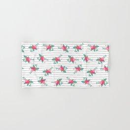 Vintage Flower Stripes Hand & Bath Towel