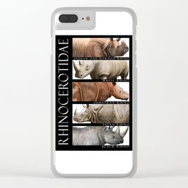 Rhinos of the World Clear iPhone Case