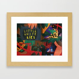 Little White Lies Framed Art Print