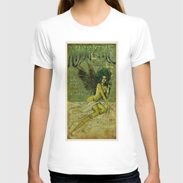 Vintage Parisian Green Fairy Absinthe Alcoholic Aperitif Advertisement Poster T-shirt