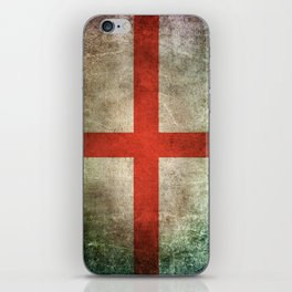 Old and Worn Distressed Vintage Flag of England iPhone Skin