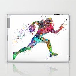 Football Player Sports Art Print Watercolor Print American Football Laptop & iPad Skin