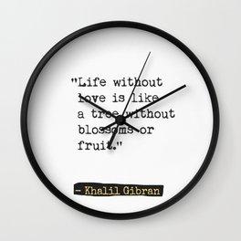 Khalil Gibran about friends Wall Clock