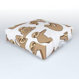 Cute Sloth Yoga Outdoor Floor Cushion