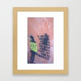 Graffiti Advice Framed Art Print