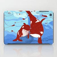 killer whale iPad Cases featuring killer whale by Elettra