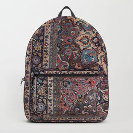 Persian Old Century Authentic Colorful Dusty Blue Pink Brown Vintage Patterns Backpack