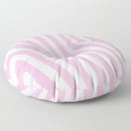 Baby Pink Zebra Stripes Floor Pillow