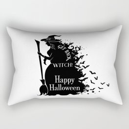 Happy Halloween Party - Get Back, Witch - Perfect Gift Idea. Rectangular Pillow