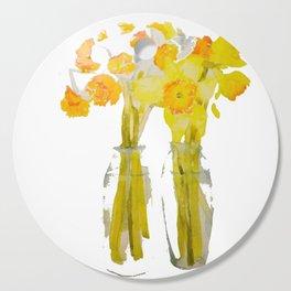 Daffodils watercolor Cutting Board