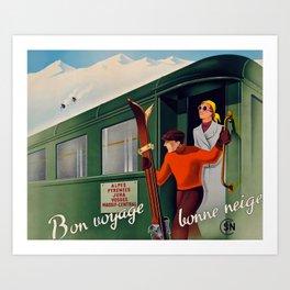 Bonne Voyage Travel Poster Art Print