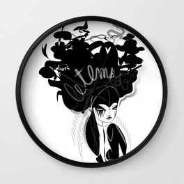 This head I hold - Emilie Record Wall Clock