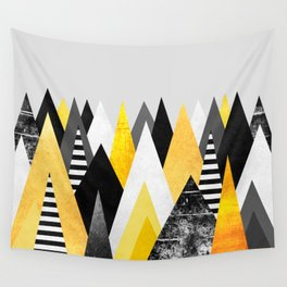 Yellow Peaks Wall Tapestry