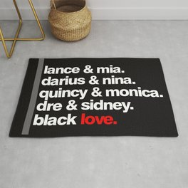 BLACK LOVE. Rug
