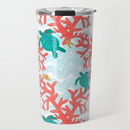 Clowning Around With Sea Turtles on The Reef Travel Mug